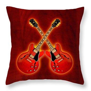 Gibson Es 335 Throw Pillow by Doron Mafdoos