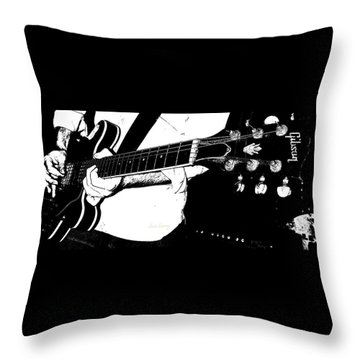 Gibson Guitar Graphic Throw Pillow