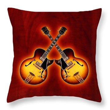 Gibson Jazz Throw Pillow by Doron Mafdoos