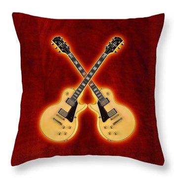 Gibson Randy Rhoads Les Paul Custom Throw Pillow by Doron Mafdoos