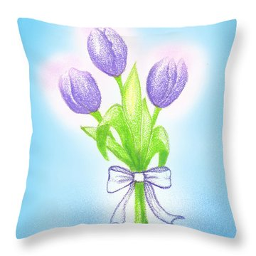 Gift Throw Pillow by Keiko Katsuta