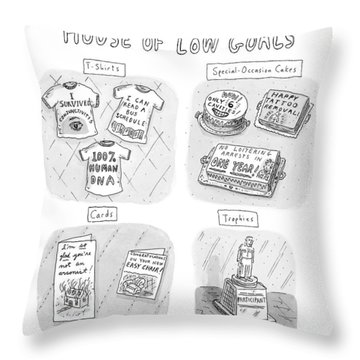 Gifts From The House Of Low Goals Throw Pillow