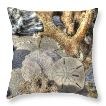 Gifts From The Sea Throw Pillow by Benanne Stiens