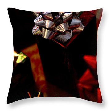 Throw Pillow featuring the photograph Gifts by Linda Shafer