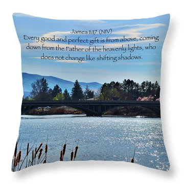 Gifts Throw Pillow by Lynn Hopwood