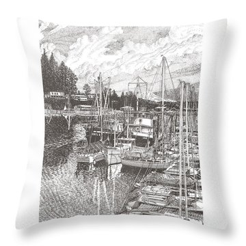Gig Harbor Entrance Throw Pillow by Jack Pumphrey