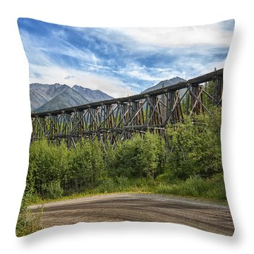 Gilahina Railroad Trestle Throw Pillow