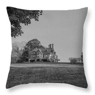 Gilded Age Mansion Throw Pillow
