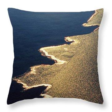 Gilded Edge - Lake Geneva Wisconsin Throw Pillow