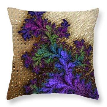Gilded Fractal 12  Throw Pillow
