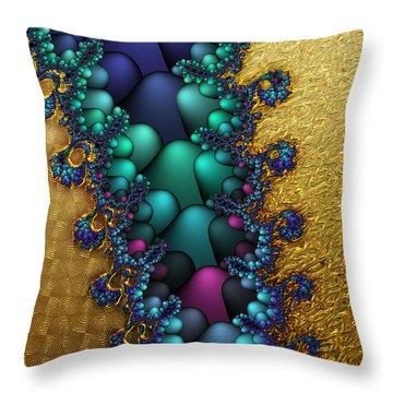 Gilded Fractal 4  Throw Pillow