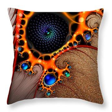 Gilded Fractal 7  Throw Pillow