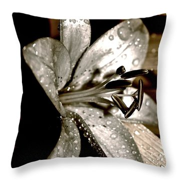 Gilded Lilies 3 Throw Pillow