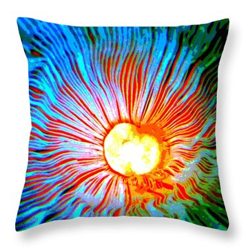 Throw Pillow featuring the photograph Gills by Deena Stoddard