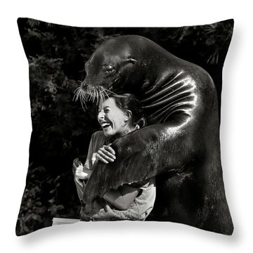 Laughter Throw Pillows