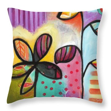 Throw Pillow featuring the painting Gimme Shelter by Carla Bank