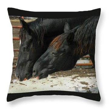 Throw Pillow featuring the photograph Gimme That Apple by Kathy Barney