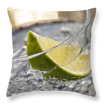 Gin Tonic Cocktail Throw Pillow by Ulrich Schade