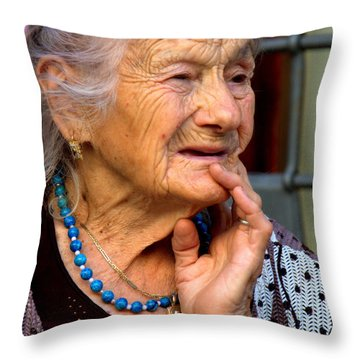 Gina Of Assisi Throw Pillow