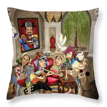 Gina's Journey Throw Pillow by Anthony Falbo