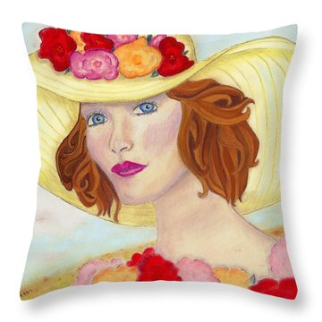 Ginger Throw Pillow by Arlene Crafton