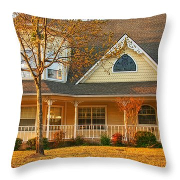 Ginger Bread Charm Throw Pillow by Joan Bertucci