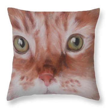 Throw Pillow featuring the painting Ginger by Cherise Foster