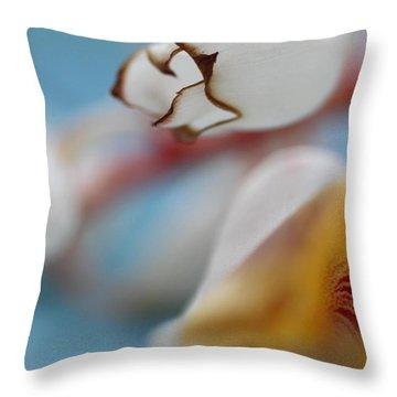 Ginger Flower Throw Pillow by AR Annahita