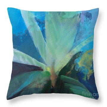 Throw Pillow featuring the painting Ginger Tea by Robin Maria Pedrero