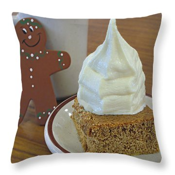 Gingerbread And Ice Cream Throw Pillow