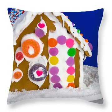 Throw Pillow featuring the photograph Gingerbread House by Vizual Studio