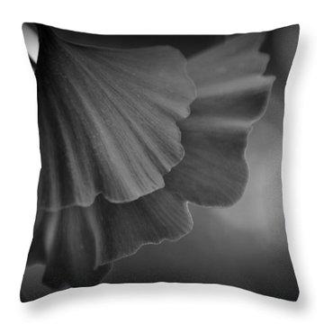 Ginkgo Biloba Leaves Throw Pillow by Nathan Abbott