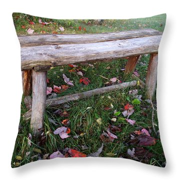 Ginny's Bench Throw Pillow