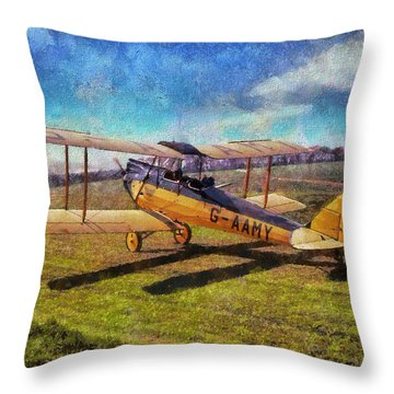 Gipsy Moth Throw Pillow