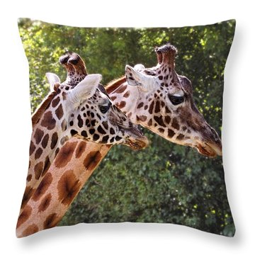 Giraffe 03 Throw Pillow
