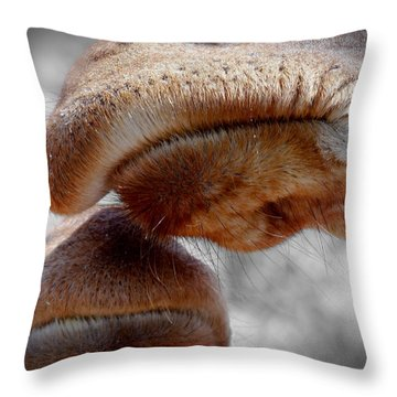 Giraffe Lips Throw Pillow