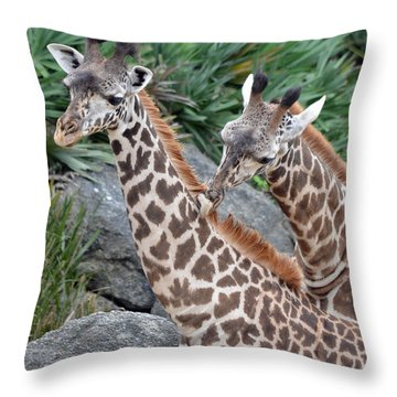 Giraffe Massage Throw Pillow