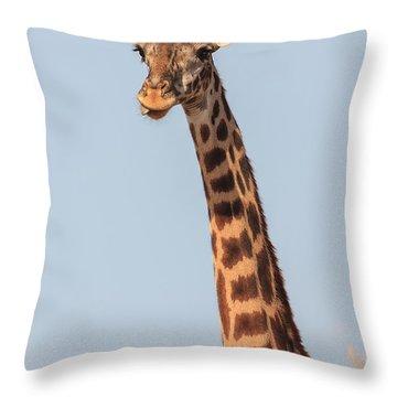Giraffe Tongue Throw Pillow