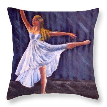 Girl Ballet Dancing Throw Pillow