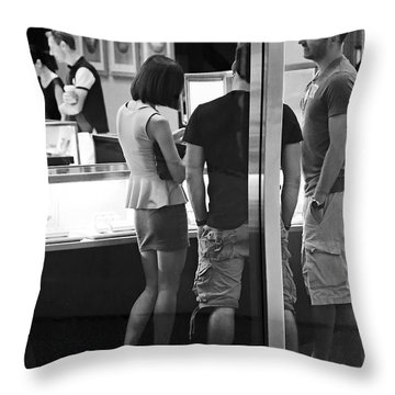 Girl Best Friends Throw Pillow