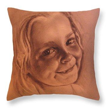 Girl From Neighbourhood Arisha Throw Pillow