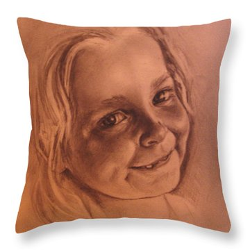 Girl From Neighbourhood Arisha Throw Pillow by Mikhail Savchenko