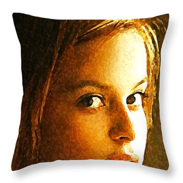 Girl Sans Throw Pillow