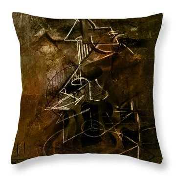 Girl With Guitar Study Throw Pillow