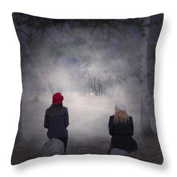 Girlfriends Throw Pillow by Joana Kruse