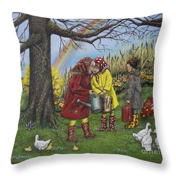 Girls Are Better Throw Pillow by Linda Simon