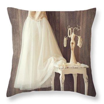 Girl's Bedroom Throw Pillow by Amanda Elwell