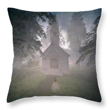 Girls Dream Throw Pillow by Kylie Sabra