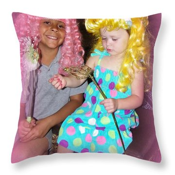 Throw Pillow featuring the photograph Girls Just Wanna Have Fun by Bobbee Rickard