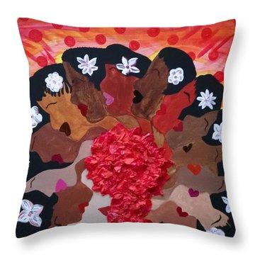 Girls On Fire Throw Pillow by Clarissa Burton